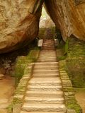 Stairs to Sigiriya in Sri Lanka Royalty Free Stock Photography