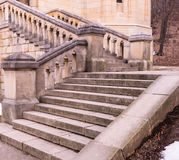 Stairs. To a small church in the woods Stock Photo