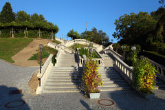 Stairs to Stift Melk Abbey Church Royalty Free Stock Photo