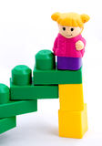 Stairs to success. The stairway to success (in toy style stock images