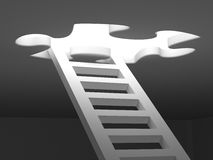 Stairs to success 3d render Royalty Free Stock Photos