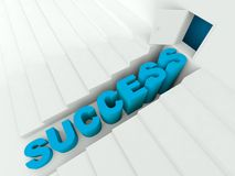 Stairs to success 3d render. Concept Royalty Free Stock Image
