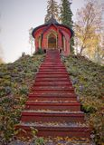 Stairs to summerhouse Royalty Free Stock Photography