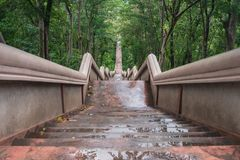 Stairs to the temple on the mountain. royalty free stock image