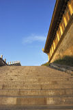 Stairs to the temple at the top of the emei mountain royalty free stock photo