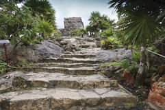 Free Stairs To The Temple Of The Wind In Tulum, Stock Images - 26130824