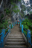 Stairs to the Tiger Temple. In krabi Royalty Free Stock Photography