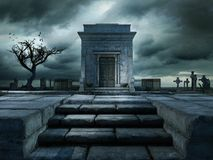 Stairs to the tomb Royalty Free Stock Image