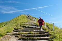 On the stairs to the top Royalty Free Stock Images
