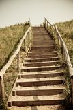 Stairs to the top of a dune Stock Photos