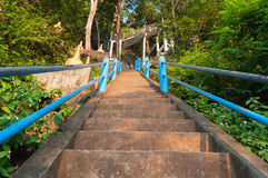 The stairs to the top of Tiger Cave Temple. 1237 step to top mountain. Krabi. Thailand Royalty Free Stock Photography