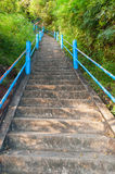 The stairs to the top of Tiger Cave Temple Stock Image