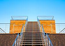 Stairs to the tribune or podium Royalty Free Stock Photos