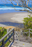 Stairs to a tropical beach Stock Photography