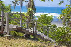 Stairs to a tropical beach Stock Photos