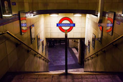 Stairs to Underground Station in London Stock Images