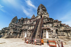 Stairs to upper galleries and towers of Angkor Wat, Cambodia Stock Photography