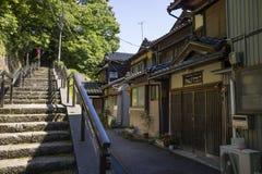 Stairs to the Utatsuyama Temple Area, Spiritual Road. Kanazawa - Japan, June 11, 2017: Stairs to the Utatsuyama Temple Area, Spiritual Road, in Kanazawa Stock Images