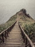 Stairs to wale observation post, Madeira Royalty Free Stock Photography