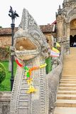 The stairs to Wat Phra That Lampang Luang. Royalty Free Stock Photography