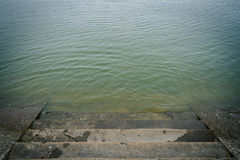 Stairs to water Royalty Free Stock Image