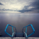 Stairs to water. Long exposure Royalty Free Stock Images