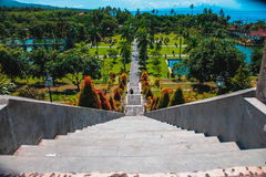 Stairs to the water palace in Bali Stock Images