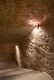Stairs to wine-cellar Stock Photos