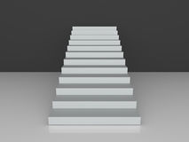 Stairs Towards Black Wall Royalty Free Stock Image