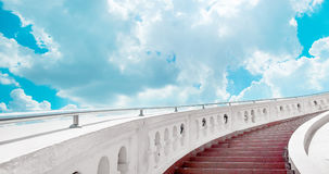 Stairs towards blue sky with clouds. Stairs towards brifht blue sky with clouds Stock Photos