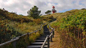 Stairs towards the lighthouse. Of the Frisian Island of Vlieland (The Netherlands Stock Photo