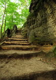 Stairs on the trail Stock Photography