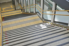 Stairs in train station. Royalty Free Stock Photography