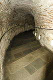 Stairs in tunnel the White Tower at Thessaloniki city, greece. Stairs in tunnel at the White Tower, Thessaloniki city, greece Royalty Free Stock Photos