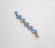 Stairs twist toy. Stairs graphics twist or snake toy Royalty Free Stock Photo
