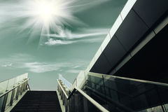 Stairs under the sun Royalty Free Stock Photos