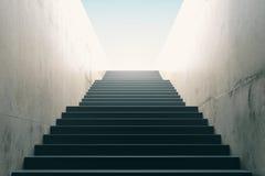 Stairs from underground upward stock photos