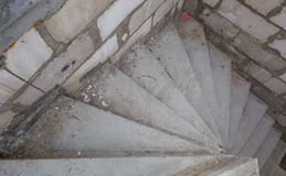 Stairs in unfinished house in countryside Stock Photography