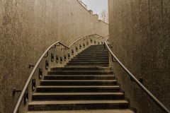 Stairs up. Dark stairs. Transition. Steps in the transition Royalty Free Stock Photography