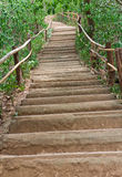 Stairs up the hill. Royalty Free Stock Photography