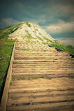 The stairs up the hill Royalty Free Stock Images