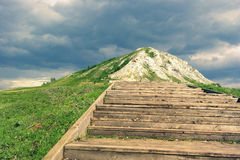 The stairs up the hill Royalty Free Stock Photos