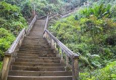Stairs up. Tham chang cave Vang Vieng, Laos Royalty Free Stock Photos