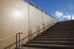 Stairs up to blue sky Royalty Free Stock Photos