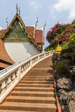 Stairs up to Golden Mount temple in Bangkok Royalty Free Stock Photo