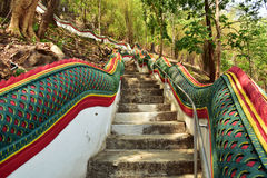 Stairs up to the temple Stock Photography
