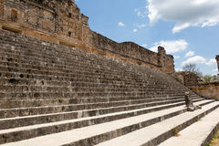 Stairs at the Uxmal ruins, Mexico Stock Images