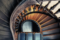 Stairs. A view from the top of a staircase royalty free stock images