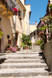 Stairs in the village Royalty Free Stock Photo