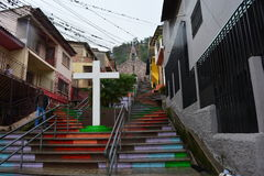 Stairs of a village in Tegucigalpa, Honduras Stock Photography